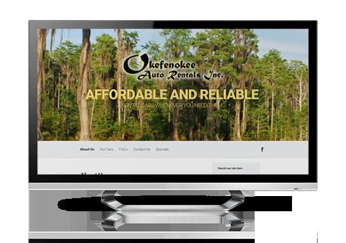 serva+ website design – Okefenokee Auto Rentals