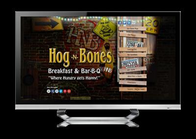 restaurant website design Hog 'n' Bones