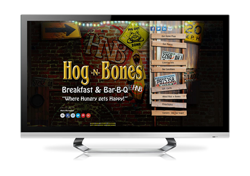 restaurant website design Hog 'n' Bones