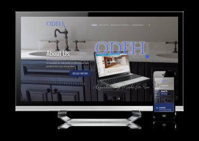 business website design Odeh Cabinetry Designs