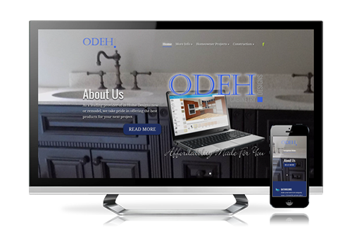 business website design Odeh Cabinetry Designs